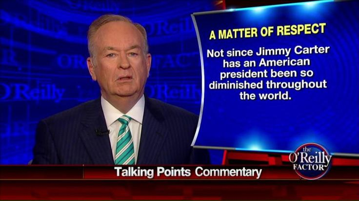 O'Reilly:  'Obama Doesn't Give a Fig About Being Disrespected by Enemies' The O'Reilly Factor | Fox News Insider (04/14/2015) And we are the laughing stock of the world....just think, we used to be the most respected, most feared....the super power!  Good thing, we got that first black moslem president.  blink blink <snicker>