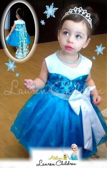 Vestido Princesa Elsa Frozen