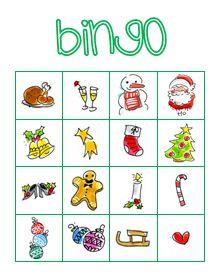 Plaatjes bingo | Thema KERST
