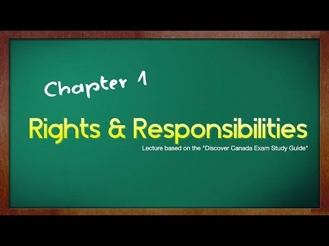 Flipped civic class! Canadian Citizenship Exam Lecture - Chapter 1 - Rights & Responsibilities - YouTube