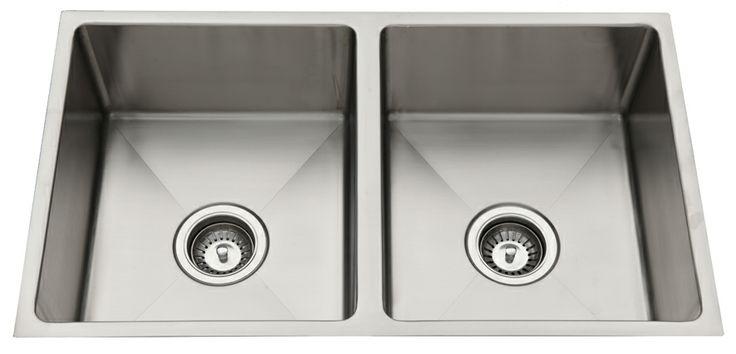 Everhard Squareline Double Undermount Sink.