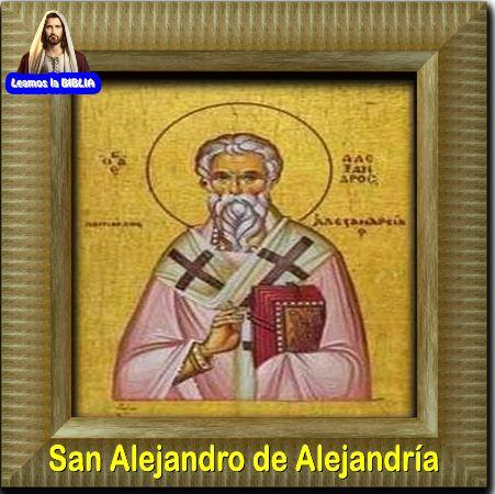Leamos la Biblia: San Alejandro de Alejandría