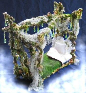 Enchanted Summer Rain Fairy Bed for 8 inch Dolls