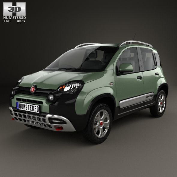 Fiat Panda Cross 2014 Fully Editable And Reusable 3d Model Of A