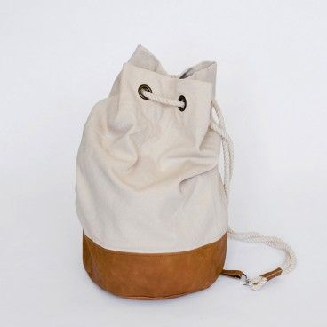 Newrybar Merchant Gift Registry: MJG Store Cotton Canvas leather Duffel Bag $139.  See the full collection at www.mjgstore.com