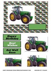 Tractor Card Front
