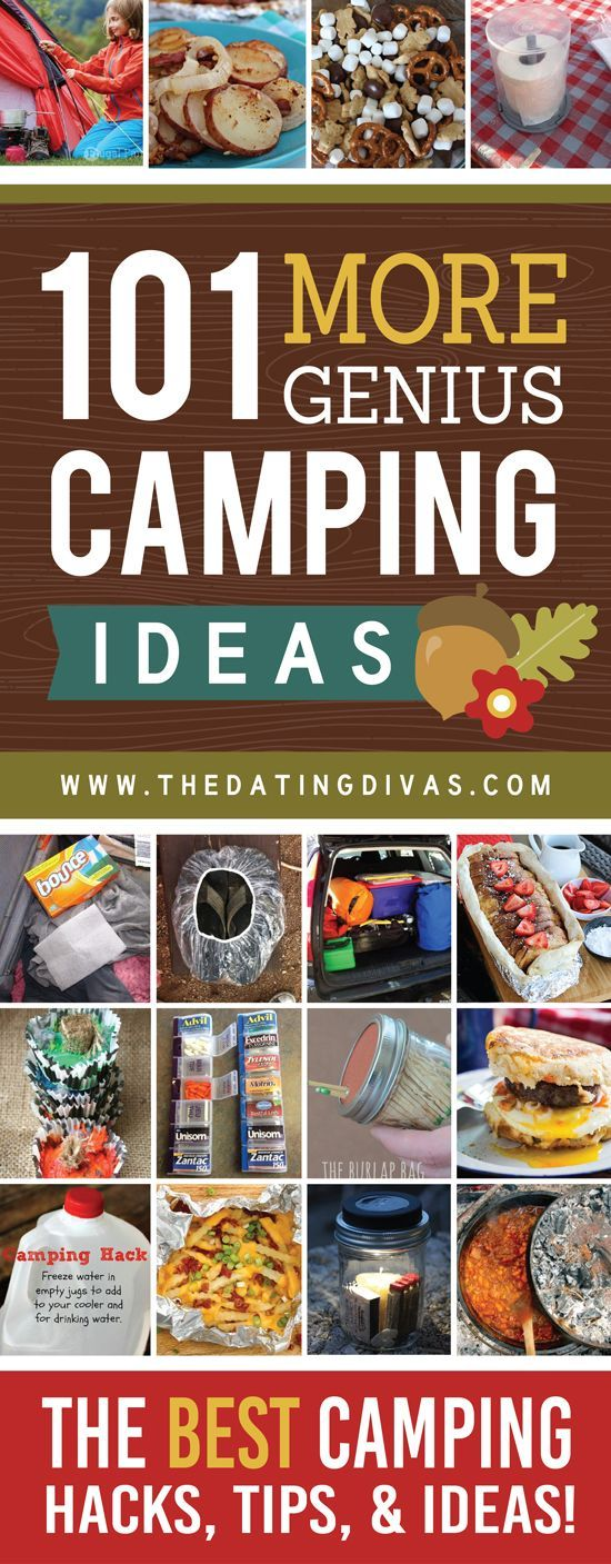 101 Absolutely Genius Camping Hacks and Ideas. Great tips and tricks for taking your family camping this summer!
