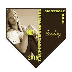 9.5 x 9.5 home plate plaque, Baseball home plate plaque, personalized sport plaque, softball award, baseball award, record breaker award