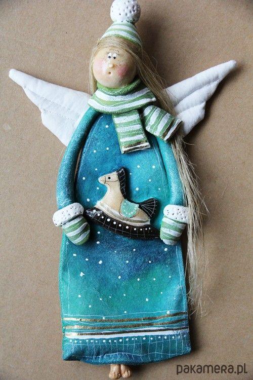 anioły i figurki-Świateczny Anioł no.8 - Boże Narodzenie