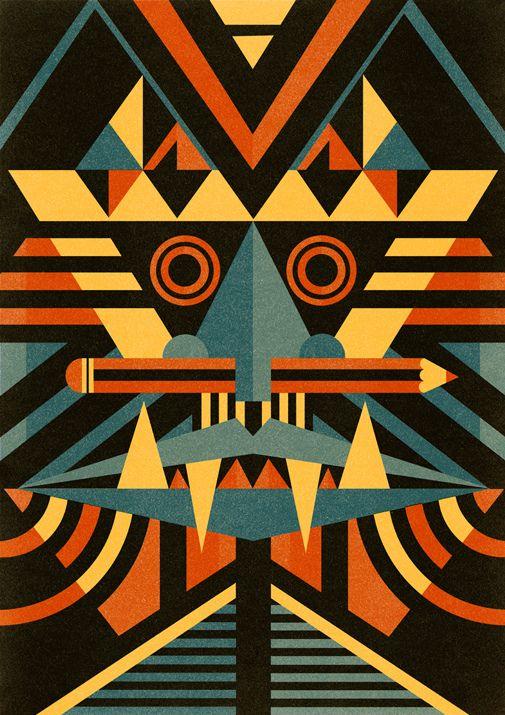 African masks today (contemporary interpretation)