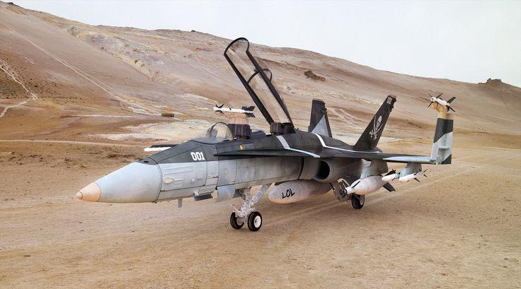 F-18 Hornet, Carmine Napolitano on ArtStation at http://www.artstation.com/artwork/f-18-hornet