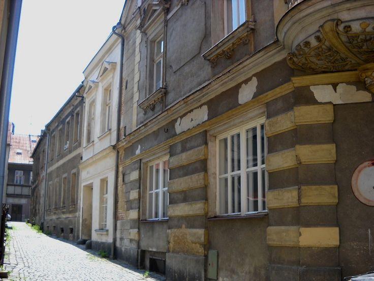 Staré domy v ulici - Šluknov - severní Čechy