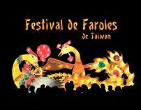 #Ilustración hecha con colores polícromos para el festival de faroles de Taiwan. By: Sandra Trujiillo