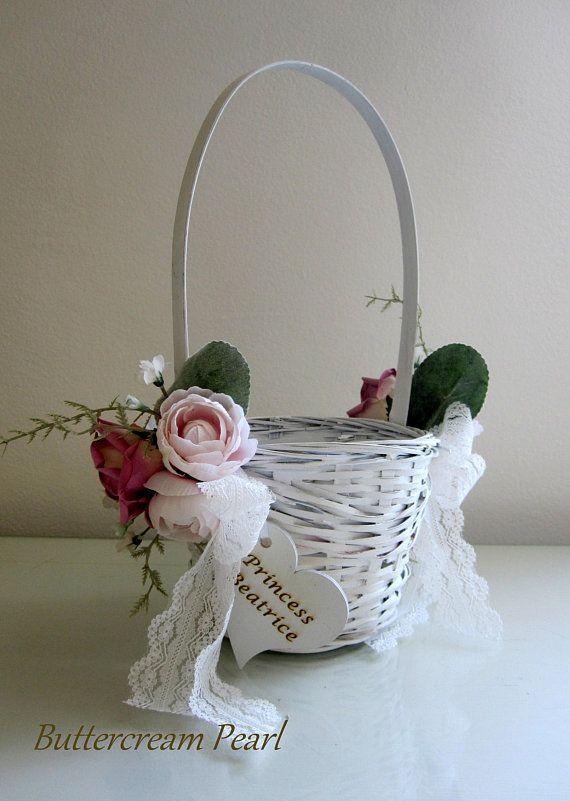 Ivory Flower girl basket Burgundy pink basket Navy blue Flower girl basket basket rustic basket wicker basket Wedding basket