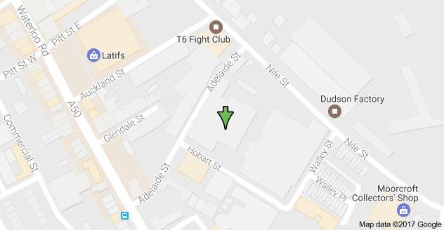 Map of Adelaide Street Burslem, Adelaide St, Stoke-on-Trent ST6 2BD