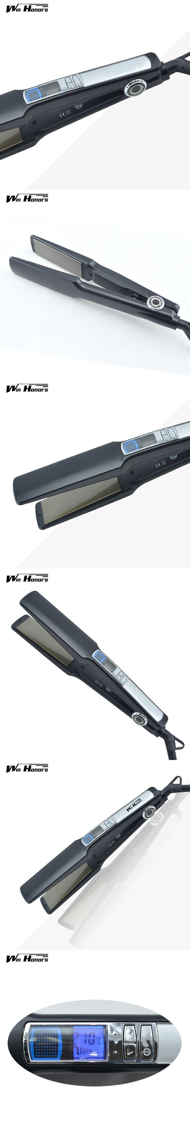 Be Professional Hair Straightening Irons Titanium Hair Straightener IronPlate Adjust Temperature Flat irons With Lcd Display