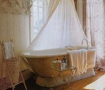 Inspiring picture bath, bathroom, bathtub, canopy, curtains, decor. Resolution: 363x399 px. Find the picture to your taste!