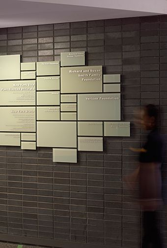 New York Hall of Science donor recognition wall                                                                                                                                                                                 More
