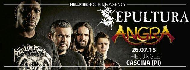SEPULTURA - ANGRA insieme in Italia per il Metal Jungle Fest
