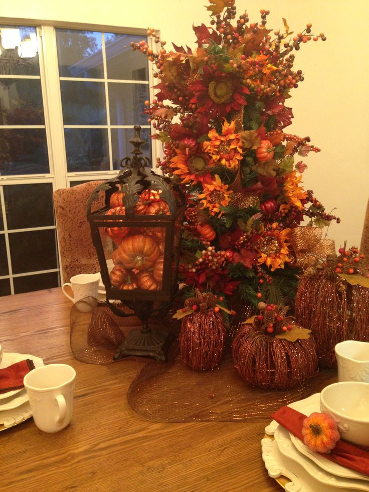 Fall Tree & Pumpkins! | Fall Decor | Autumn decorating ...