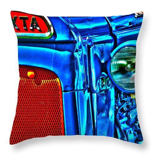 Tractor Blues Throw Pillow by Randi Grace Nilsberg