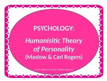 essay on carl rogers humanistic personality Carl rogers (1902-1987) was a humanistic psychologist who  central to rogers' personality theory is the  we will write a custom essay sample on carl rogers.