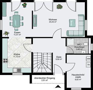 die 25+ besten ideen zu offene raumaufteilung auf pinterest ... - Offene Kuche Wohnzimmer Grundriss