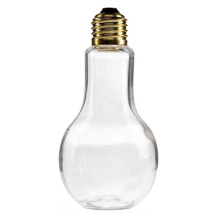 225mL Glass Light Bulb Jar with Gold Lid