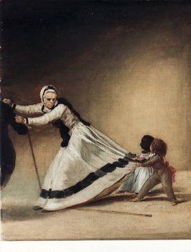 """Goya: """"La Beata"""", dueña de la duquesa de Alba, con los niños Luis Berganza y María de la Luz. Fundación Goya en Aragón. 1795."""