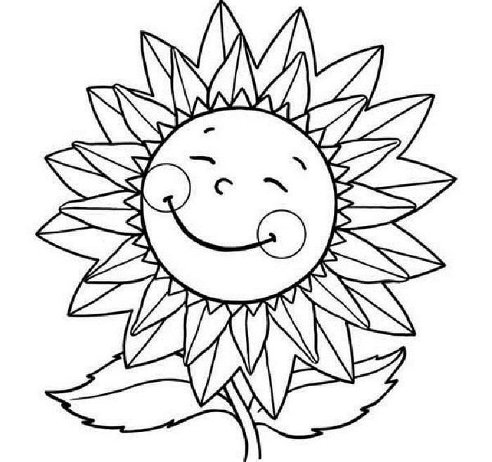 Smiley Sunflower Coloring Pages Sunflower Coloring Pages Summer Coloring Pages Sunflower Colors