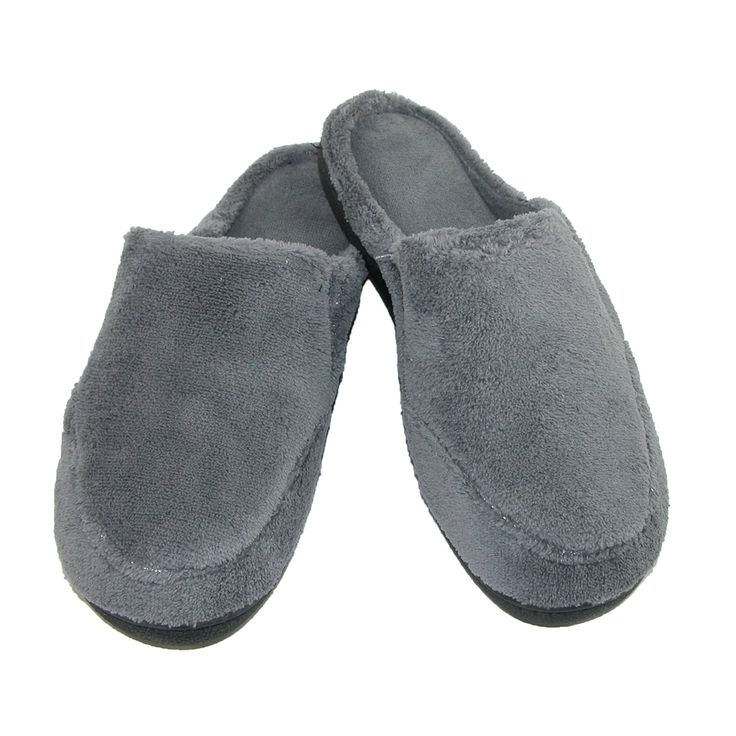Isotoner Men's Microterry Open Back Clog Slippers