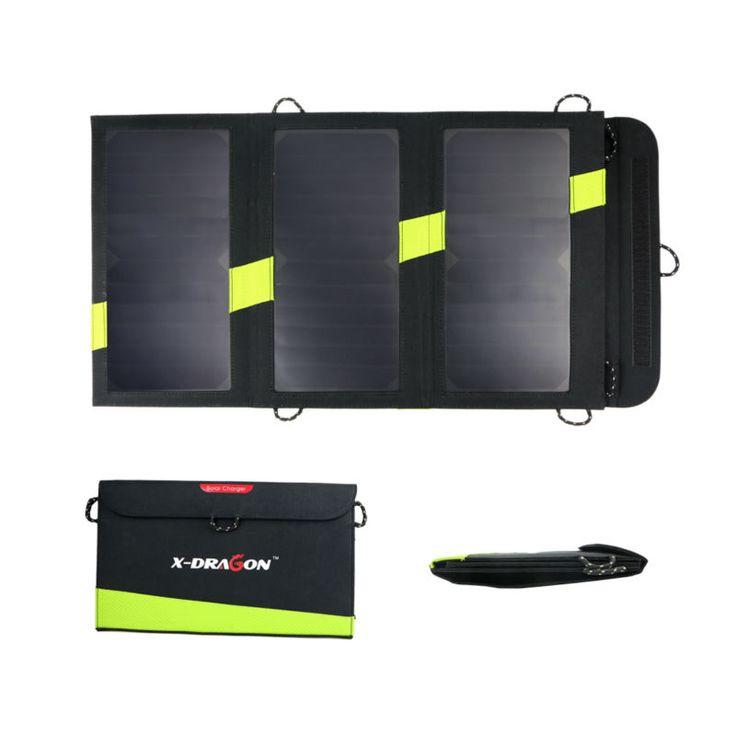 20 W 5 V Luar Surya Sunpower Solar Panel Charger Berkemah Charger Bank Daya untuk Ponsel