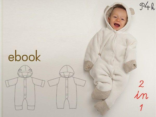 Näh jetzt gleich für Dein Baby / Kind / Enkelkind einen schönen Overall mit Ohren dran und Kapuze. Total niedlich und immer schön warm. Probiers gleich aus.