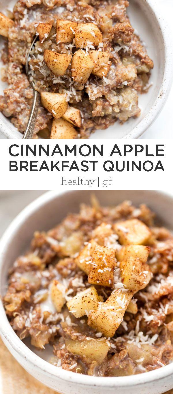 Cinnamon Apple Breakfast Quinoa Simply Quinoa Recipe Dairy Free Recipes Dinner Gluten Free Recipes For Breakfast Apple Breakfast Recipes