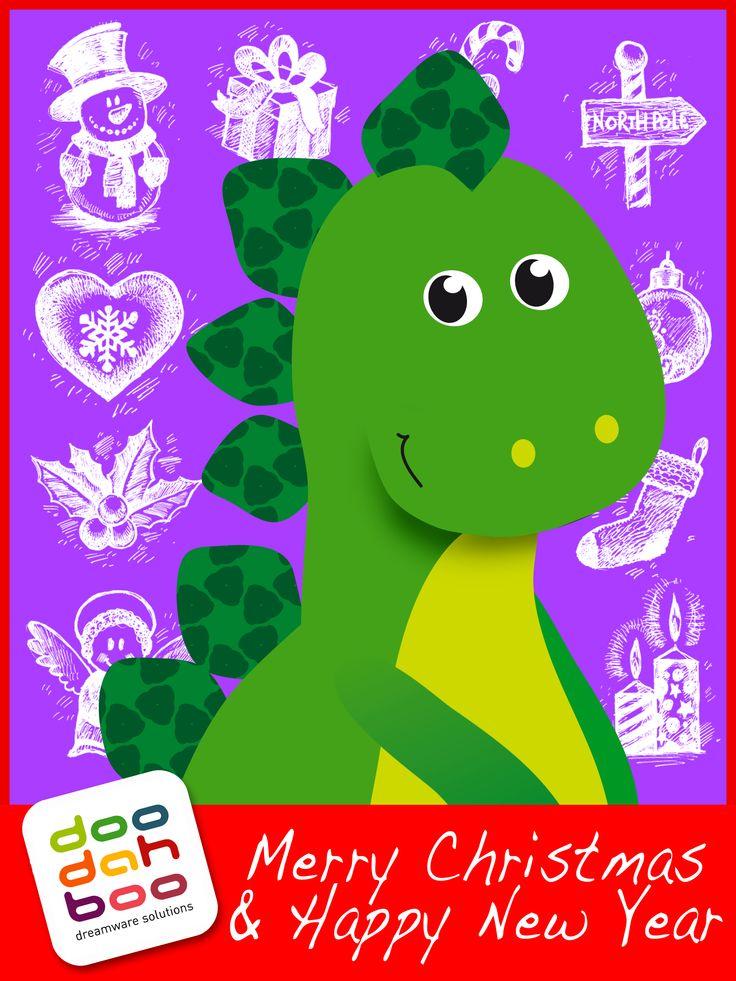 Stegosaurus Christmas Greetings Card