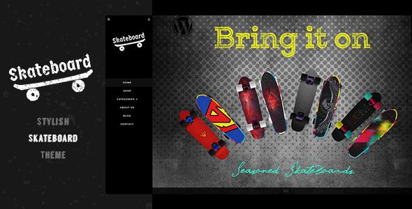 Skateboard - Fullscreen Shopify Theme #Activity, #Board, #BuddhaThemes, #FullScreen, #FullScreenShopify, #Grunge, #Hiking, #Mountain, #MultiCurrency, #Presentation, #RetinaReadyShopify, #Skateboard, #Skating, #Snowboard, #Surfboard https://goo.gl/jcSiU9