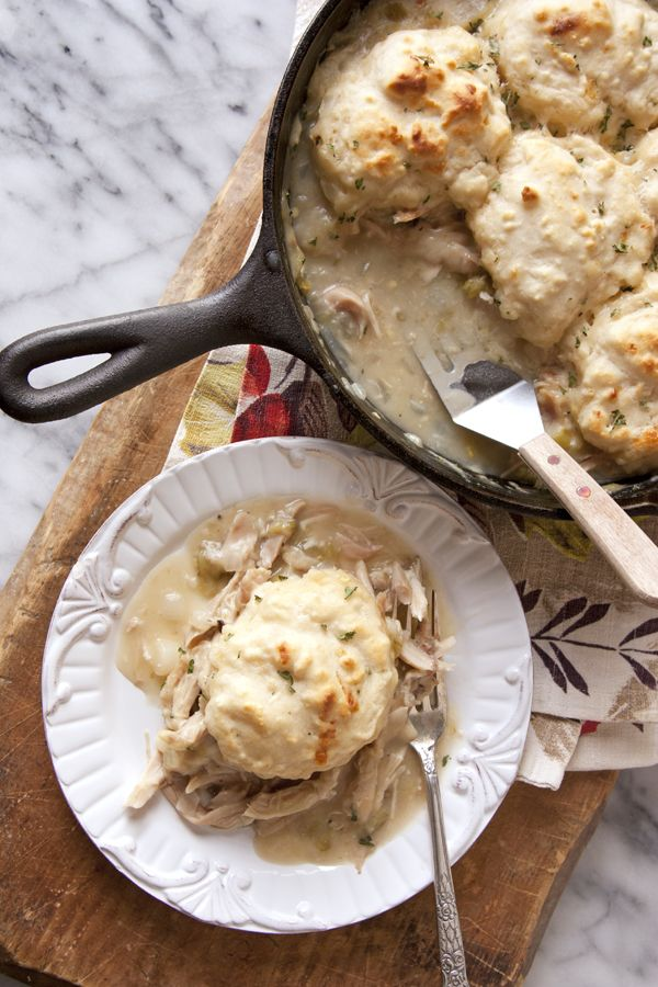 Do you have turkey leftovers? Make this simple, spicy, and delicious One Skillet Chicken Turkey and Roasted Green Chile Pot Pie