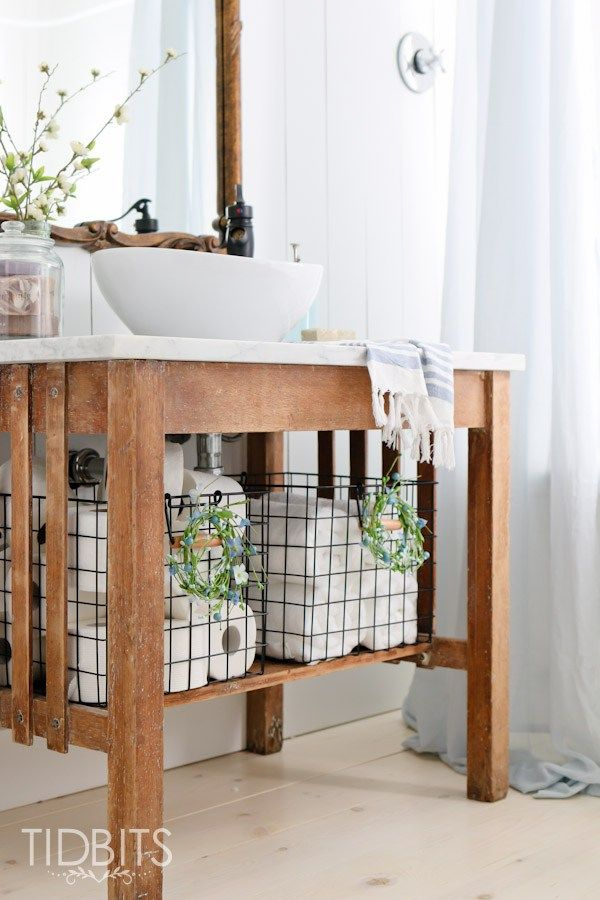 Spring Home Tour Diy Bathroom VanityBathroom