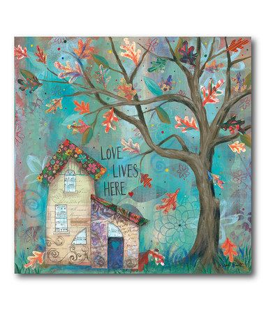 Another great find on #zulily! 'Love Lives Here' Wrapped Canvas #zulilyfinds