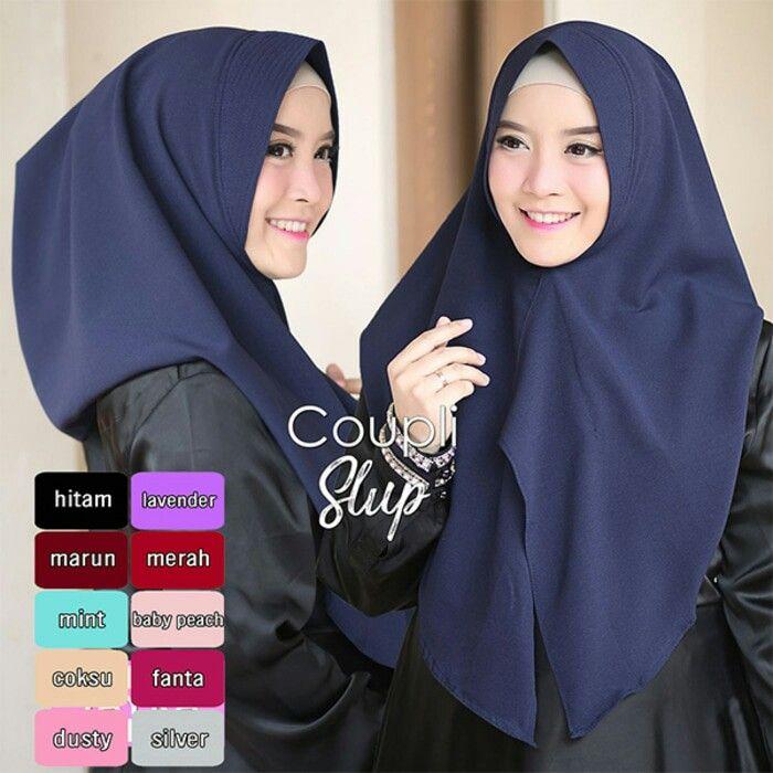 Jilbab Instant Coupli Slup diamond crepe, hijab instant 1x slup, dengan soft pad antem, praktis dan cocok dikenakan sehari-hari nyaman dan cantik