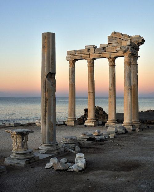 The ruins of the Temple of Apollo at Side, Antalya, Turkey (by... - Its a beautiful world