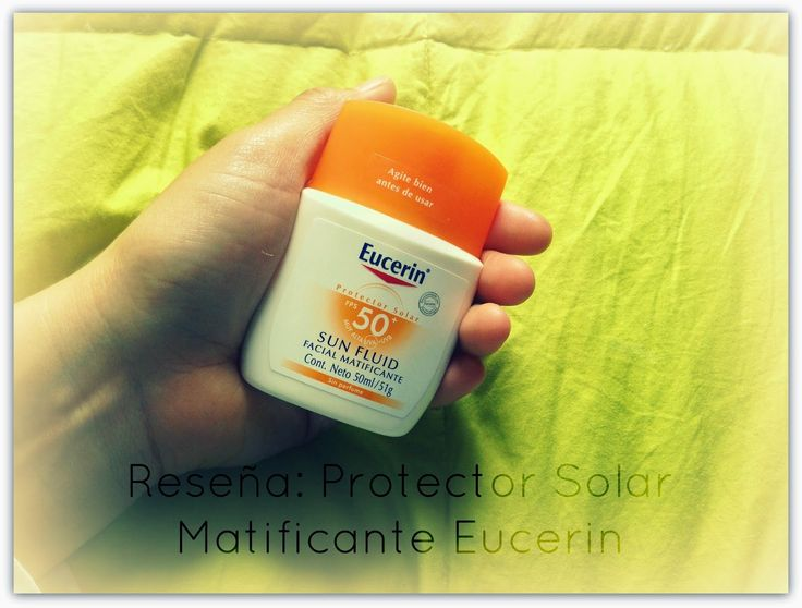 Cata Martínez N: Reseña: Protector Solar Matificante Eucerin