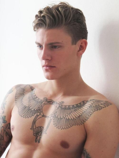 Never thought I'd dig a tattoo but he helps.....Mikkel Jensen, that chest tattoo!!