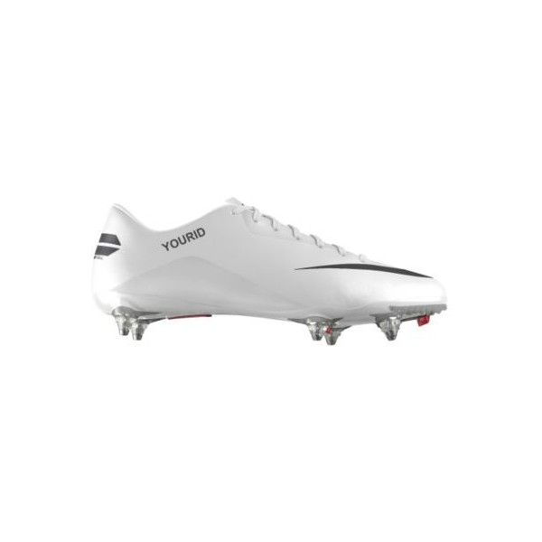 Nike Mercurial Glide III iD Custom Women's SG Soccer Cleats - White,... ($135) ❤ liked on Polyvore