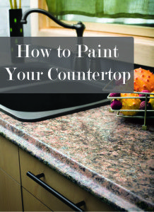Painting laminate countertops -How to give it a professional look and save a ton of money doing it!