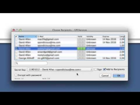 GPGTools encrypt text selection and Setting up services - YouTube  You can select a section of text in a document or an email and just encrypt that. Could be quite handy in certain cases.