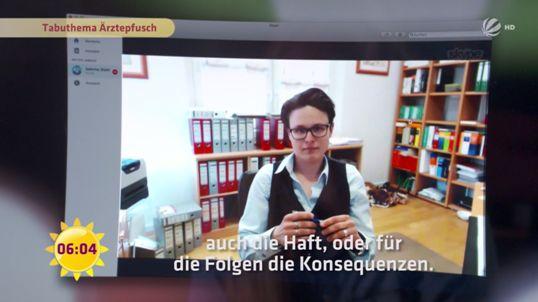 SAT.1 Frühstücksfernsehen vom 27.10.2017 - Kampf um Gerechtigkeit - Tabuthema Ärztepfusch - Rechtsanwaltskanzlei Sabrina Diehl
