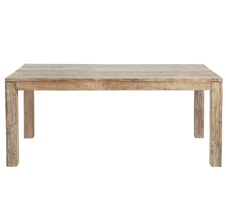 "Inspired by classic Vintage Distressed Farmhouse style furniture. Our Hampton Farmhouse Dining Room Table 60"" crafted from reclaimed teak wood that has been reclaimed from old buildings with a distressed lime wash finished.(http://www.zinhome.com/hampton-farmhouse-dining-room-table-60/)"
