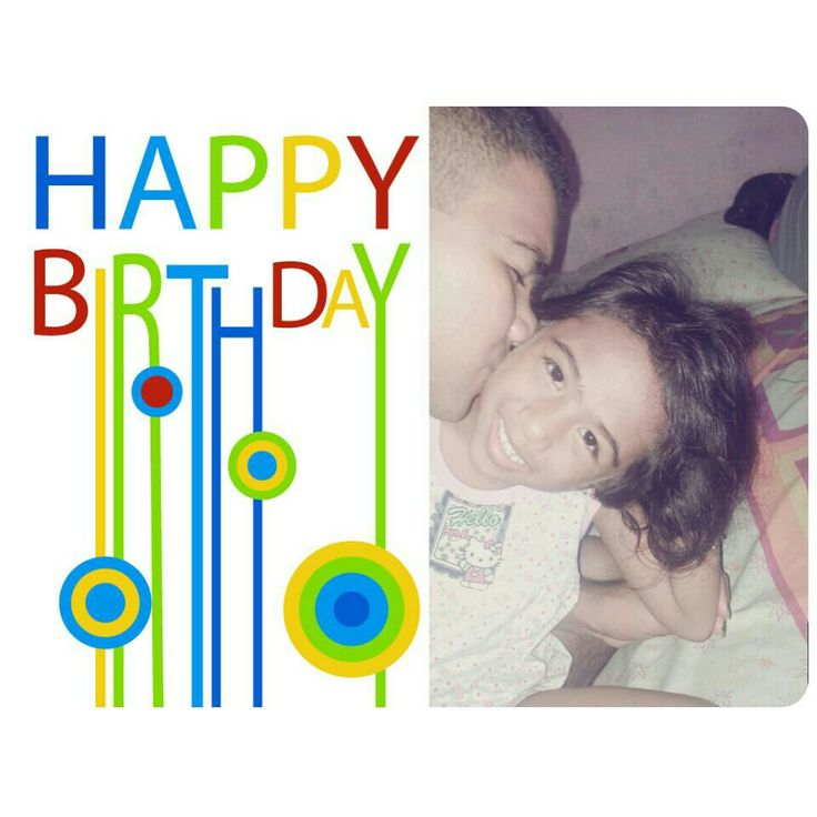 **Happy 4th Birthday my lovely girl.. :* I wish you a happy life and bright future ahead.. I LOVE YOU TOO DAMN MUCH, BABY..!! :* XOXO #birthday #sister #sibling #love #dahling