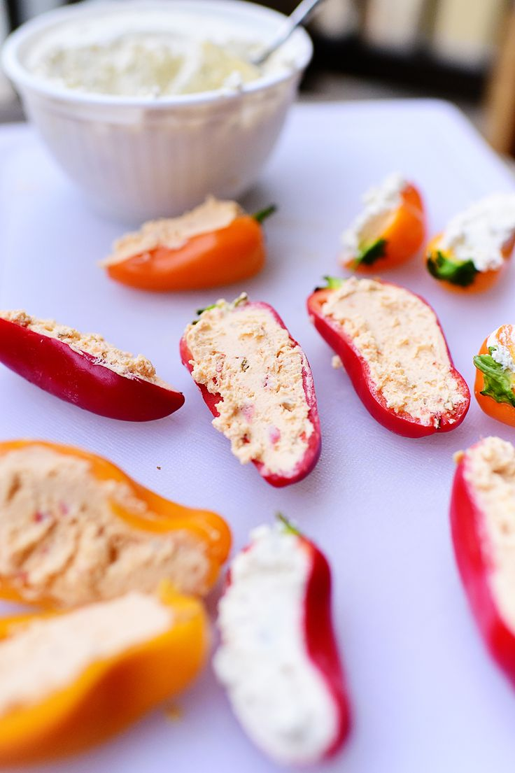 The peppers are a super easy appetizer! And gluten free!